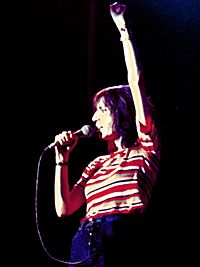 Patti Smith, performing in 1976
