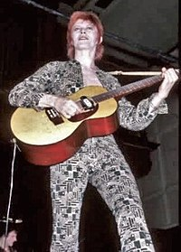 David Bowie during the Ziggy Stardust and the Spiders Tour in 1972