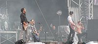 Linkin Park performing in 2009
