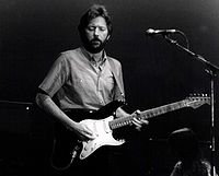Eric Clapton performing in Barcelona in 1974