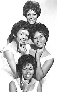 """The Shirelles in 1962 (clockwise from top: Addie """"Micki"""" Harris, Shirley Owens, Beverly Lee, and Doris Coley)"""