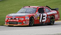 Cobb's No. 13 Nationwide car at Road America in 2011