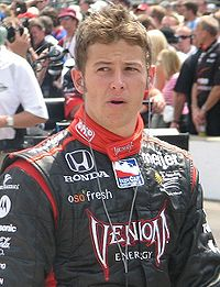 Andretti at the Indianapolis Motor Speedway in May 2009.