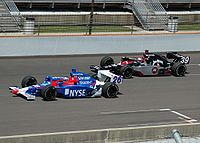 Marco (left) practicing with Michael Andretti at the 2007 Indianapolis 500