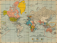 Western empires as they were in 1910.