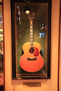 Harrison's Harptone L-6 acoustic guitar, which he played at the Concert for Bangladesh