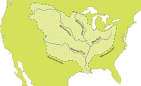 Map of the Mississippi River watershed