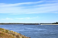Mississippi River from Eunice, Arkansas, a ghost town. Eunice was destroyed by gunboats during the Civil War.