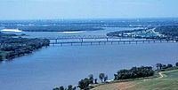The Mississippi River at the Chain of Rocks just north of St. Louis (2005)