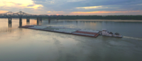 Barge on the Lower Mississippi River