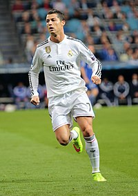 Cristiano Ronaldo has been deployed as an inverted winger.