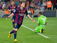 Barcelona's Lionel Messi has been a proponent of the false 9 position to much success in recent years.