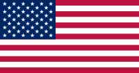 Flag of the United States of America (Same flag the real United States currently uses).
