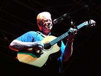 Bruce Cockburn performing at the City Stages festival in Birmingham, Alabama, United States.