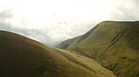 Col between Kensgriff and Yarlsidine in the Howgill Fells, England