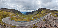 The Bealach na Bà linking Applecross in the Scottish North-west Highlands.