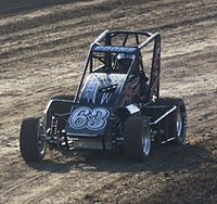 Larson racing a USAC midget in 2012