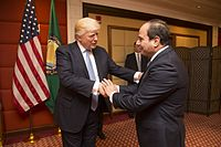 President el-Sisi with US President Donald Trump, 21 May 2017