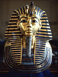 Tutankhamun's burial mask is one of the major attractions of the Egyptian Museum.