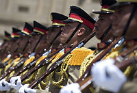 Egyptian honor guard soldiers during a visit of U.S. Navy Adm. Mike Mullen