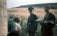 Romani woman with German police officer and Nazi psychologist Robert Ritter