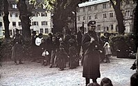German troops round up Romani in Asperg, Germany in May 1940