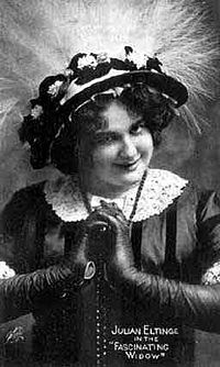 Julian Eltinge as a female impersonator in the Fascinating Widow, early 1910s