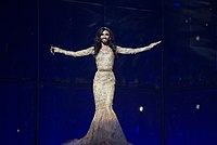 Conchita Wurst, winner of the 2014 Eurovision Song Contest