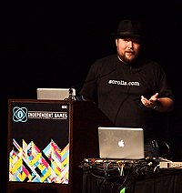 "Minecraft creator Markus ""Notch"" Persson at GDC 2011"