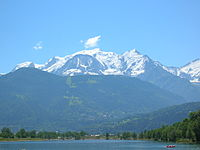 Mont Blanc in the Alps is the highest peak in the EU