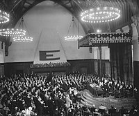 Meeting in the Hall of Knights in The Hague, during the congress (9 May 1948)