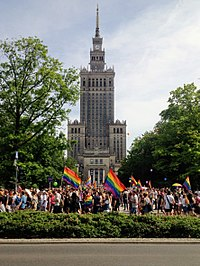 """Warsaw Pride 2018. Article 21 of the Charter of Fundamental Rights asserts that """"any discrimination based on any ground such as [...] sexual orientation shall be prohibited."""""""