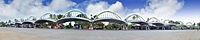 A panoramic view of Vyttila Mobility Hub integrated transit terminal in the city of Kochi