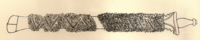 Portrait of the sword of Zamorins of Kozhikode, relating to the legend of Cheraman Perumal