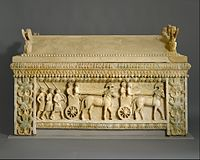 The Amathus sarcophagus, from Amathus, Cyprus, arguably the single most important object in the Cesnola Collection
