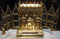 Attributed to Jean de Touyl (French, died 1349), Reliquary Shrine from the convent of the Poor Clares at Buda