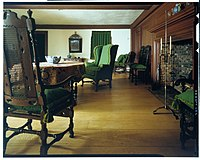 Interior of the early colonial home of John Wentworth, lieutenant governor of New Hampshire