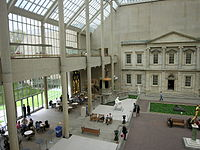Charles Engelhard Court in the North Wing facing Central Park