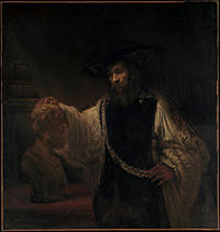 Rembrandt, Aristotle Contemplating the Bust of Homer, 1653