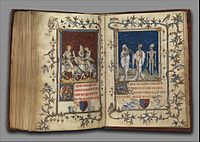 Attributed to Jean Le Noir or follower, Psalter of Bonne de Luxembourg, 14th-c illuminated manuscript