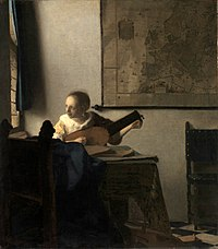 Johannes Vermeer, Woman with a Lute, 1662