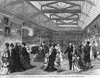 Opening reception in the picture gallery at 681 Fifth Avenue, February 20, 1872; wood-engraving published in Frank Leslie's Weekly, March 9, 1872