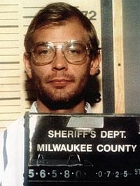 Jeffrey Dahmer's July 25, 1991 mug shot, taken after he had been formally charged with four counts of first-degree murder