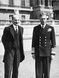 George VI and British prime minister Clement Attlee (left), July 1945