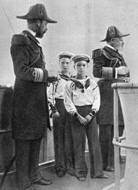 Four kings: Edward VII (far right), his son George, Prince of Wales, later George V (far left), and grandsons Edward, later Edward VIII (rear), and Albert, later George VI (foreground), c. 1908