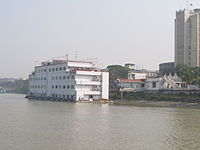 The Floatel in Kolkata located on the river