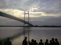 The Prinsep Ghat which is located on the bank of the Hooghly River
