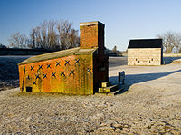 The shot furnace at Fort Griswold