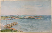 From the Ocean House, Groton (about 1860) by Charles DeWolf Brownell