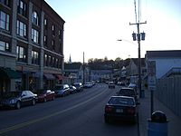 The Groton part of downtown Mystic